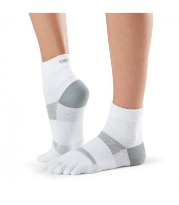 Toesox Sport Sock Minnie Wit