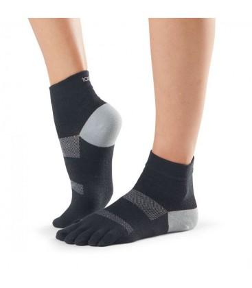 Toesox Sport Sock Minnie Zwart