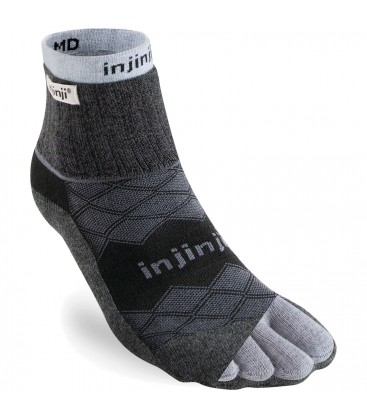 Injinji Liner + Runner Zwart teensokken