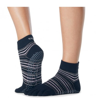 Toesox Ankle Grip Socks Navy teensokken